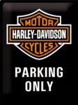 Harley Davidson Parking Only Black NA23130
