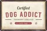 "3D bord ""Dog Addict"" 20x30cm_"