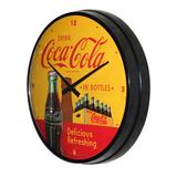 Wandklok Coca Cola in Bottles 3D_