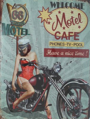 Welcome Motel Cafe 33x25