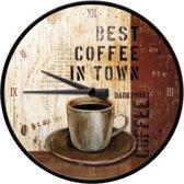 Wandklok Best Coffee in Town