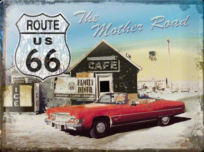 Route 66 The Mother Road 30x40 3D