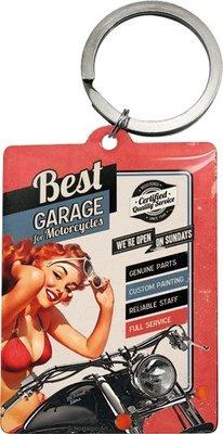 Sleutelhanger vierkant Best garage for motorcycles