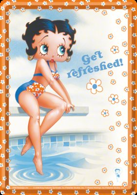 Postcard Betty Boop get Refreshed 10x15cm