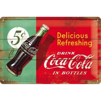 Coca Cola Flesje 1950 20x30 3D