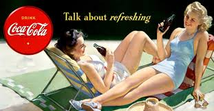 Coca Cola Talk about refreshing 40x23 cm