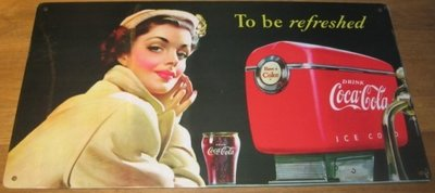Coca Cola To be refreshed 40x23 cm