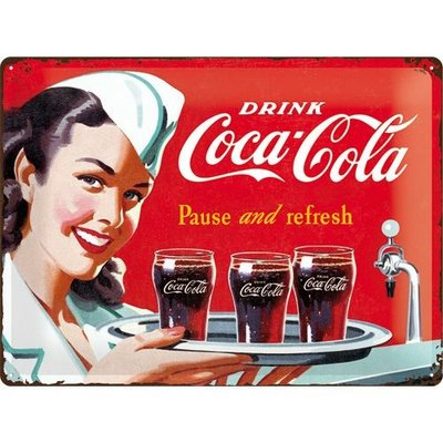 Coca Cola 1960 Pause and Refresh 30x40 3D