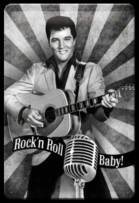 Elvis Prestley Rock'n Roll Baby 20x30 3D