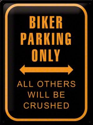 Biker parking only 3D 30x40CM