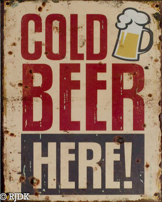 Cold Beer Here 25x20