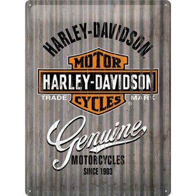 Harley Davidson Metal Wall 30x40 3D