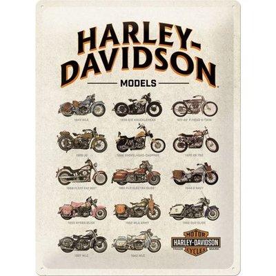 Harley Davidson Model Chart 30x40 3D