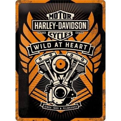 Harley Davidson Wild at Heart 30x40 3D
