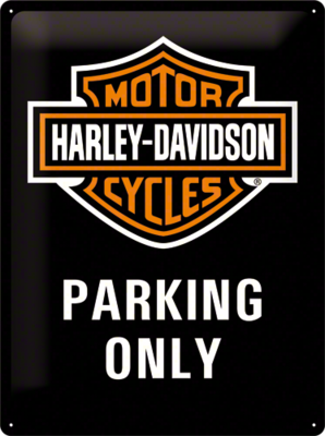 Harley Davidson Parking Only Black 30x40 3D