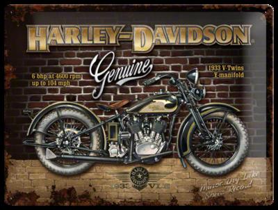 Harley Davidson Brick Wall 30x40 3D