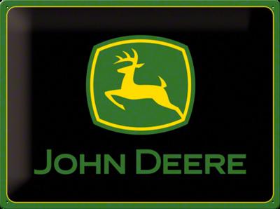 John Deere Logo Black 3D
