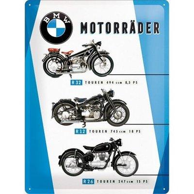 BMW Motorräder Chart 30x40 3D