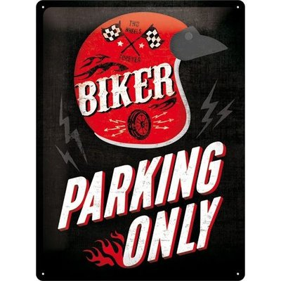 Biker Parking Only Helmet 30x40 3D