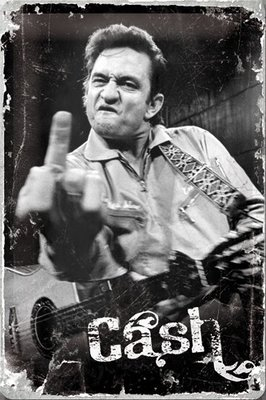 Johnny Cash Finger 20x30 3D