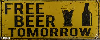 Free beer Tomorrow 20x50