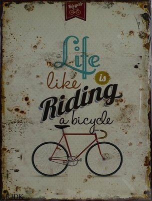 Life is like riding a bicycle 33x25