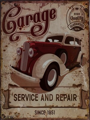 Garage Service and Repair 33x25