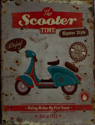 The scooter time 33x25