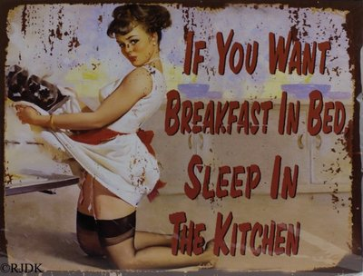 If you want breakfast in bed 25x33