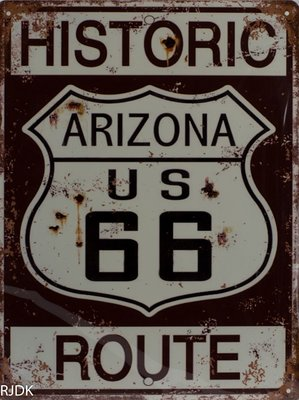 Historic Arizona US 66 Route 33x25
