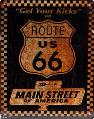 get your kicks on route us 66  25x20