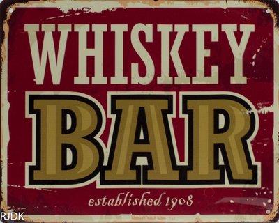 Whiskey Bar established 1908 20x25