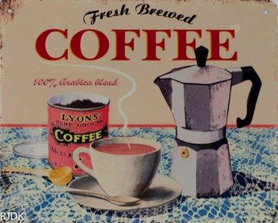 Fresh Brewed Coffee 20x25