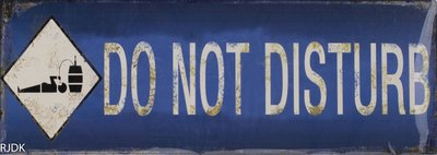 Do not Disturb 13x36