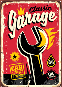 "2D bord ""Classic garage"" 20x25cm"