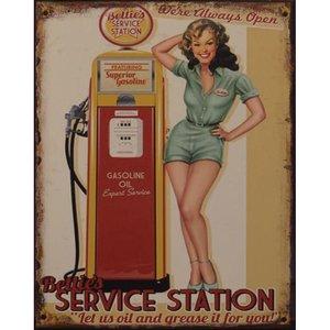 Bettie's Service Station 20x25