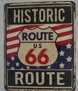 "2D Bord ""Historic Route 66"" 20x25cm"