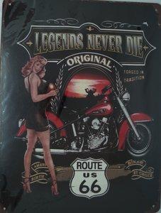Legends never Die original Route 66 33x25