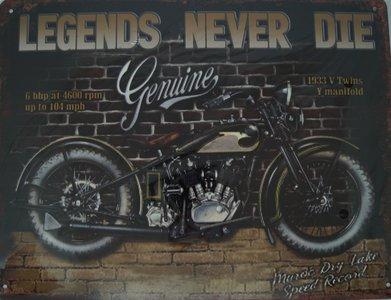 Legends never die Geniune 25x33