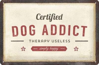 "3D bord ""Dog Addict"" 20x30cm"