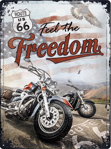 "3D bord ""Route 66 Freedom"" 30x40"