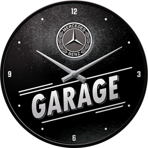 Wandklok Mercedes Benz Garage