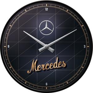 Wandklok Mercedes Benz Silver and Gold