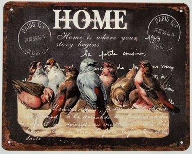 "2D bord ""Home"" 20x25cm"