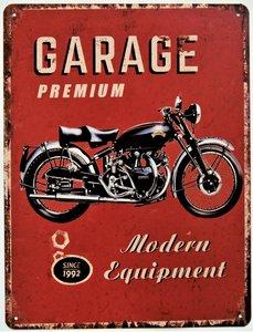 """2D bord """"Garage premium"""" 33x25cm"""