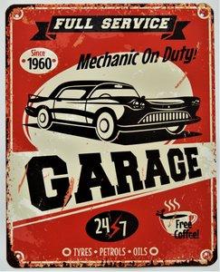 "2D bord ""Full service garage"" 20x25cm"