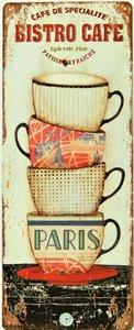 """2D bord """"Bistro Cafe"""" 50x20cm"""