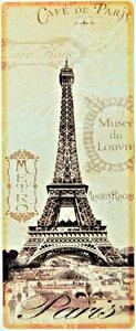 """2D bord """"Cafe de Paris"""" 50x20cm"""