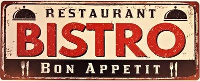 "2D bord ""Bistro Restaurant"" 20x50cm"