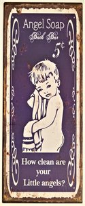 "2D bord ""Angel Soap"" 50x20cm"